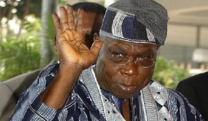 Nigerian President Olusegun Obasanjo arrives at Jakarta Convention Center to attend the Asia Africa Summit 2005, in Jakarta 22 April 2005. A summit of Asian and African leaders opened in Jakarta on Friday gathering almost 50 heads of state from both continents amid tensions between two of the most prominent delegations, Japan and China.   AFP PHOTO/CHOO YOUN-KONG