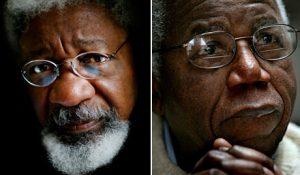 Wole Soyinka and Chinua Achebe
