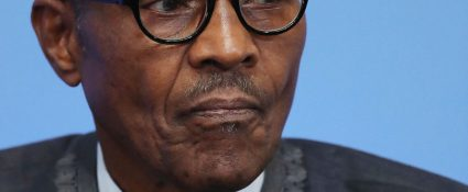 Nigerian President Muhammadu Buhari listens during a panel discussion during the Anti-Corruption Summit London 2016, at Lancaster House in central London on May 12, 2016. British Prime Minister David Cameron announced plans Thursday to stop the flow of dirty money through the London property market, as he prepared to welcome world leaders and NGOs to an anti-corruption summit. / AFP / POOL / Dan Kitwood        (Photo credit should read DAN KITWOOD/AFP/Getty Images)